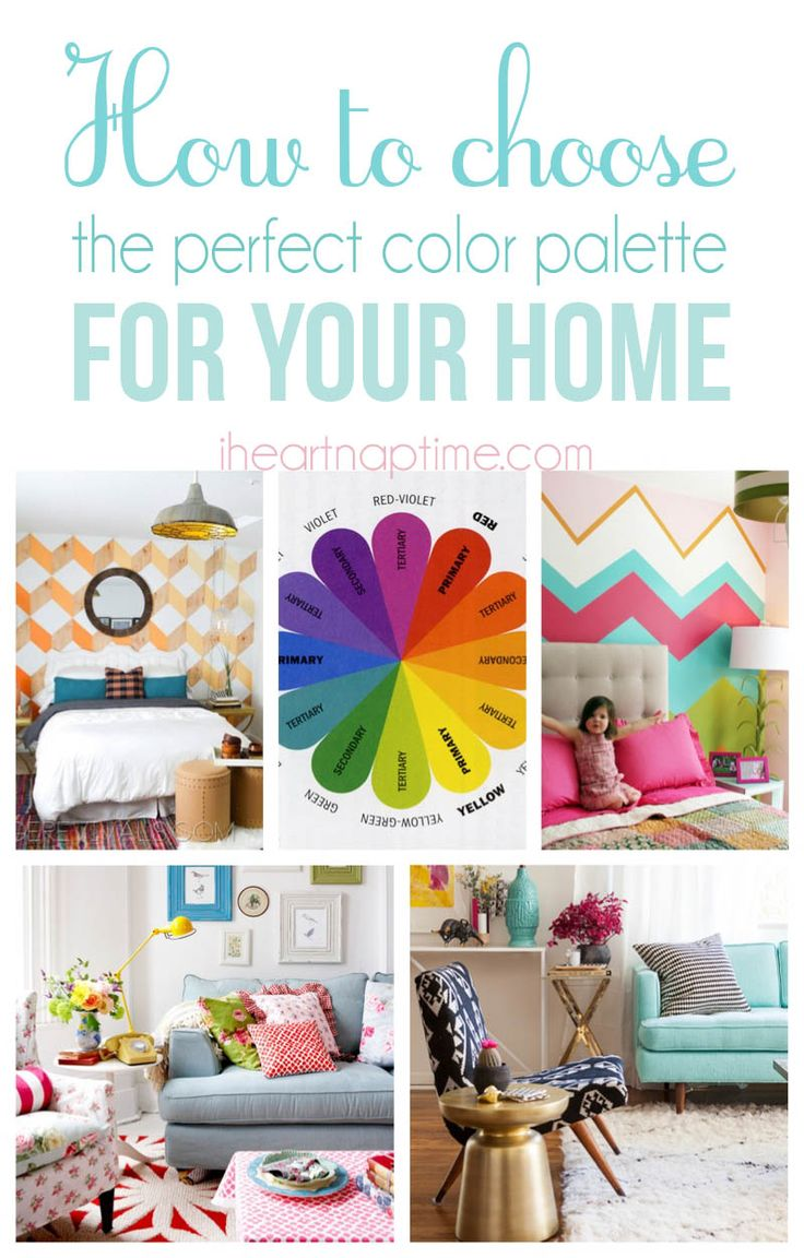 How to choose a color palette for your home on iheartnaptime.com ... 10 great tips!
