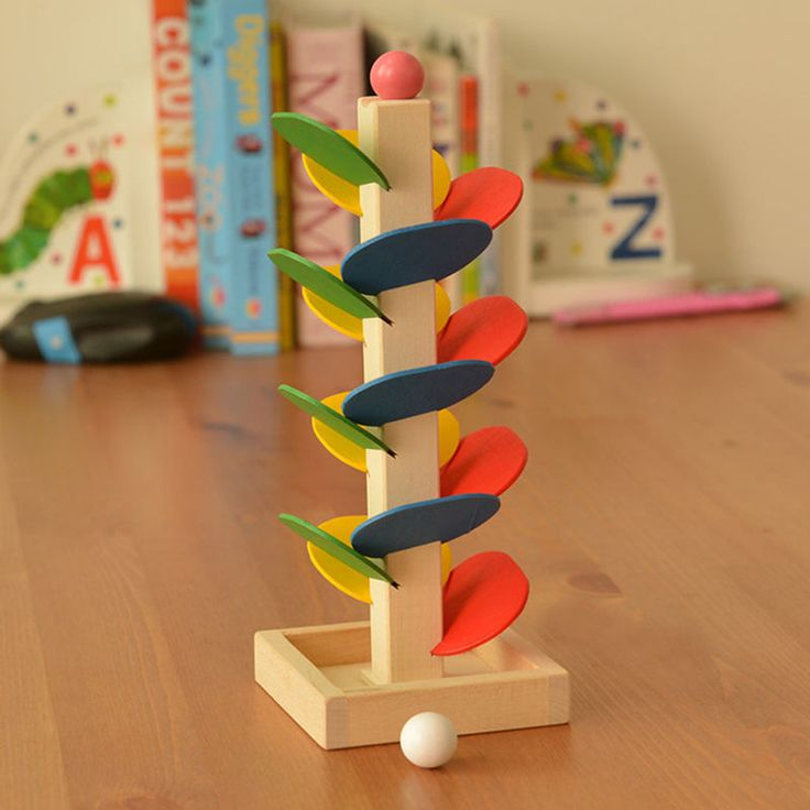 Wooden Tree Ball Run Track Game Supplies Kids Educational Intelligence Toy #Unbranded