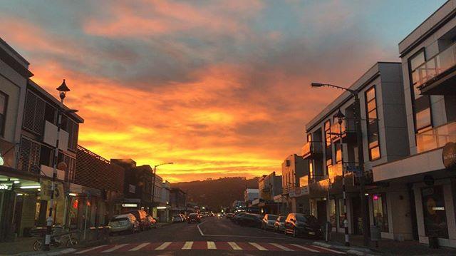 Right now #sunset #nofilter  sweet  on Jackson Street Petone #NewZealand #itsTime2Go!