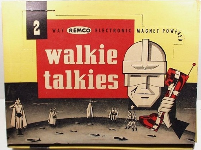 Toys From 1953 : Remco electronic magnet powered walkie talkies