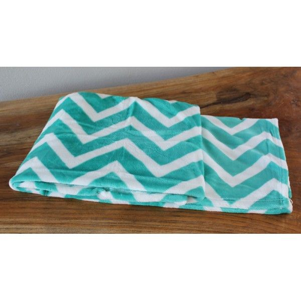 Aqua Chevron Throw - Cushions & Throws Online
