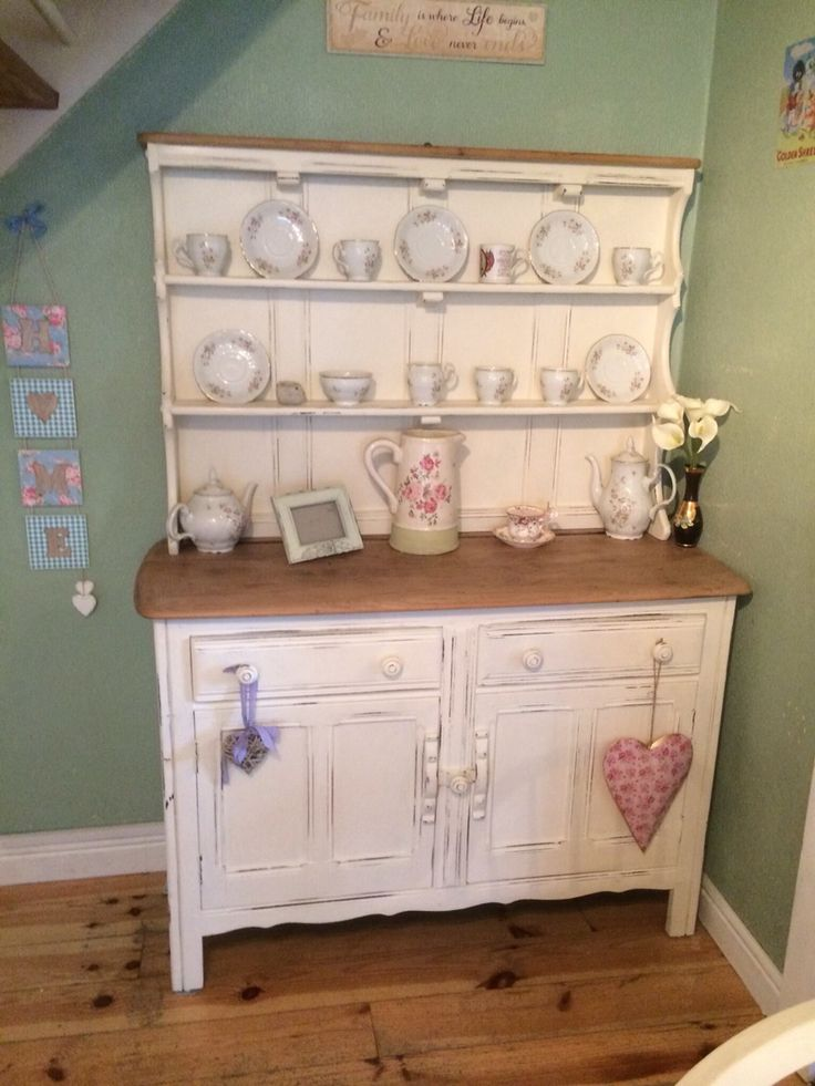 Upcycled ercol Welsh dresser. Painted in Annie Sloan Original, clear waxed and distressed