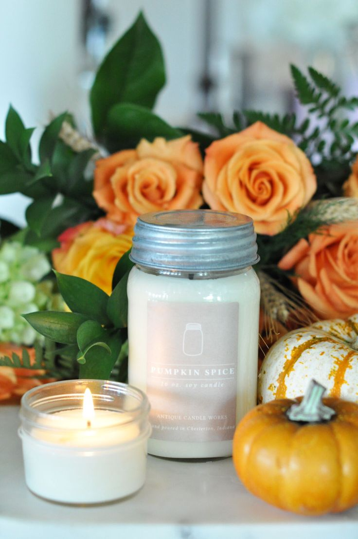 "We are in the last days to get an Antique Candle Works #PumpkinSpice candle 10% during the September Scent of the Month sale!  Don't miss out on this great deal! Fragrance: The popular scent of seasoned pumpkin aroma with a fall spice mix that says ""Welcome Home!""  Beautiful #handmade soy candles - rustic #fall #decor for the modern #farmhouse home."