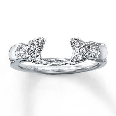 Diamond Enhancer Ring 1/6 ct tw Round-cut  14K White Gold