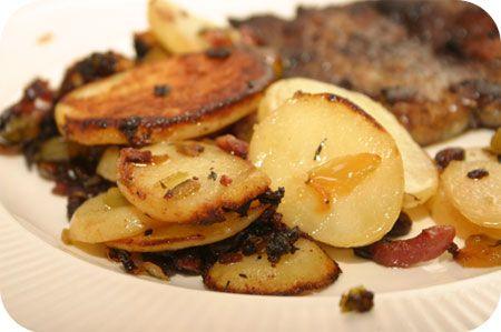 Aardappelschotel met Spek en Paprika
