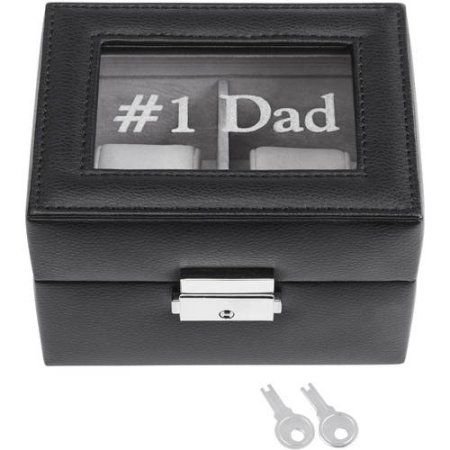 Personalized 2 Slot Leather Watch Box, Available in Monogram or Message