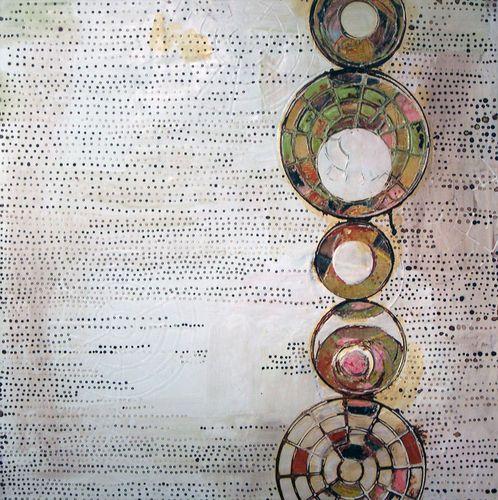 Painting-Oil-Rickie Wolfe: scarab, Artist Study , circles , Art Featuring Circles, Inspiration for CAPI Students at milliande.com , circles, kreis, symbology , metaphor, emotion, idea, art