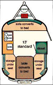 1974 Boler floor plan