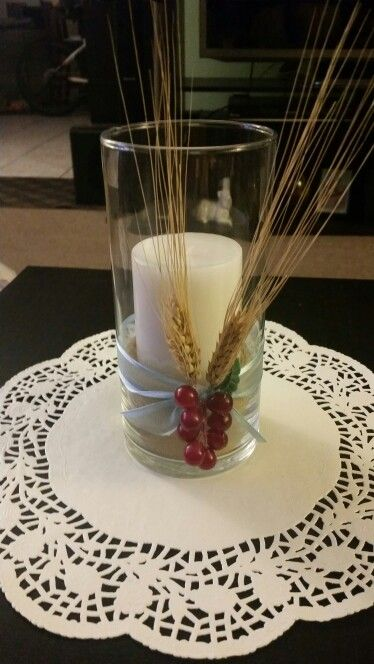 Easy First communion centerpieces