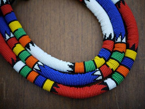 Zulu necklaces handmade in South Africa