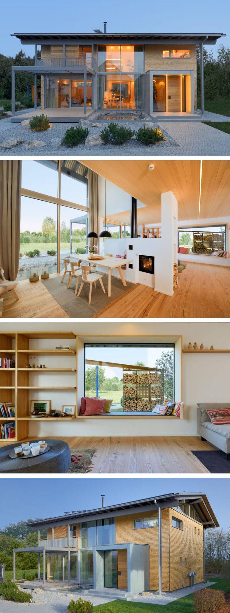Holzhaus modern im Alpenstil mit Galerie und Satte…