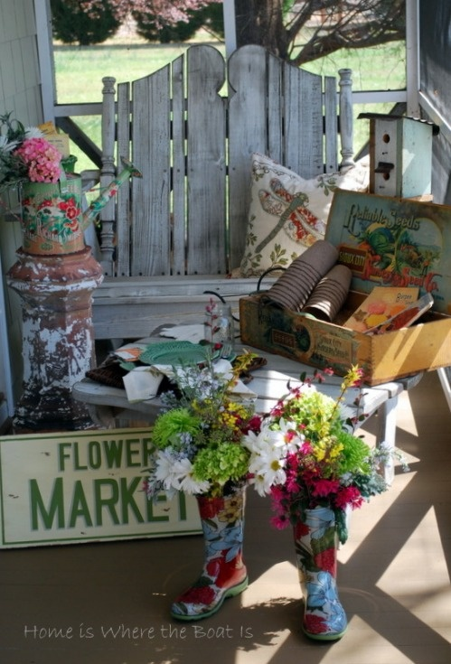flower market garden bootsflower