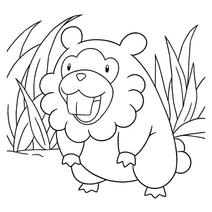 Free Pokemon Diamond Pearl Coloring Page Pages 107 Printable