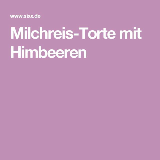 Milchreis-Torte mit Himbeeren