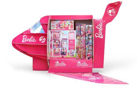 Barbie Glam Jet Pre-HolidayDisplay