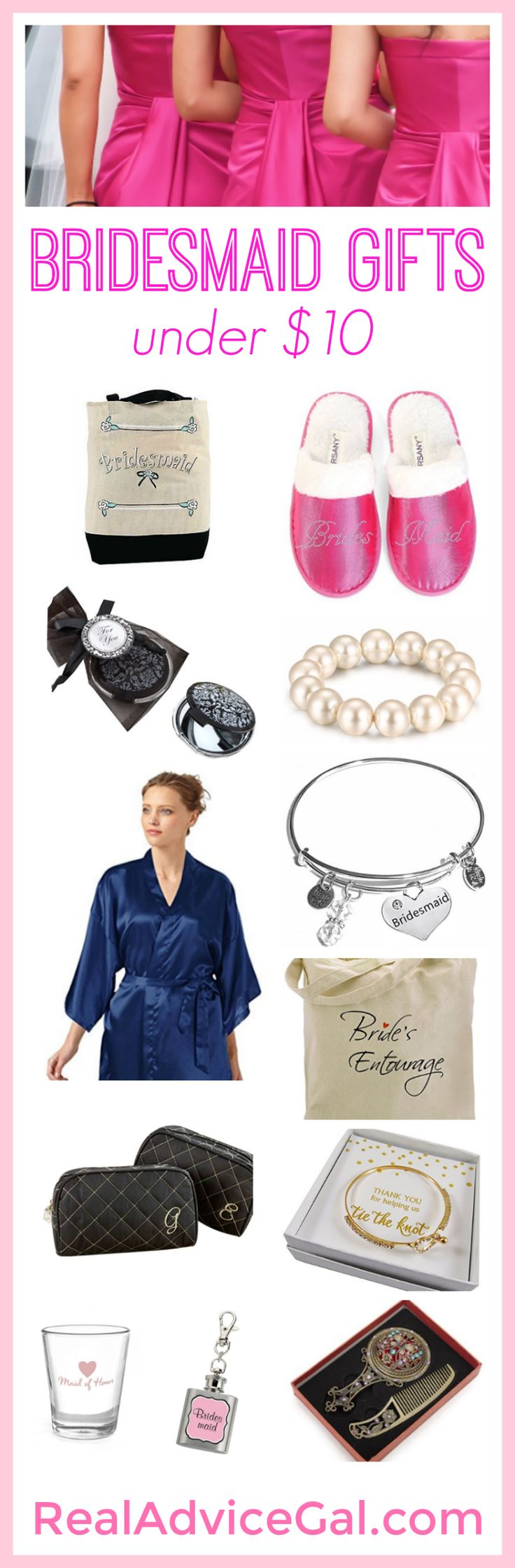 Pretty but affordable bridesmaid gifts under 10 that your