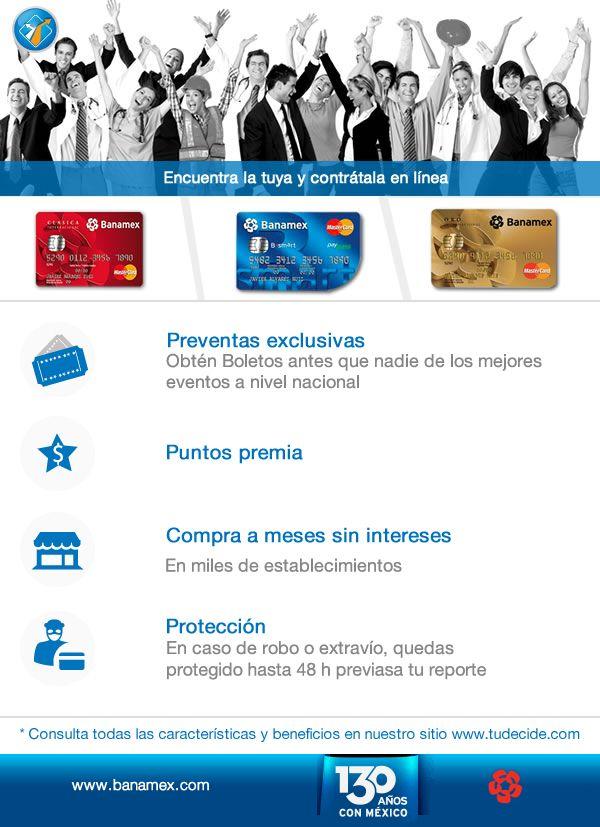 Obtén la tarjeta apta a tu perfil y goza de sus beneficios ¡Solicítala en línea en 5 min! www.tudecide.com/landings/banamex/bsmart-clasica-oro