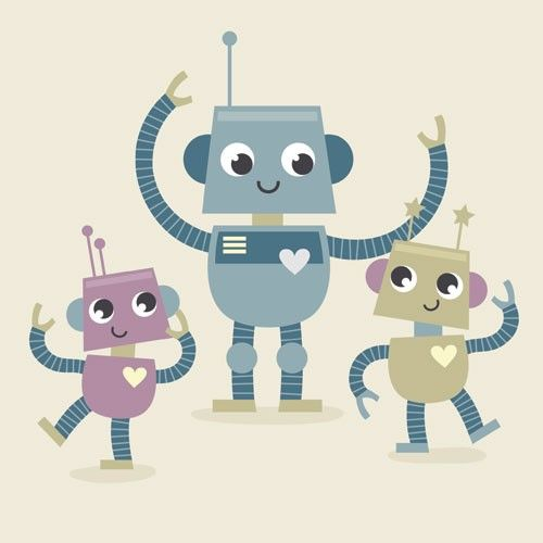 Sarah Ward Illustration - sarah ward, sarah, ward, novelty, picture book, digital, young, sweet, commercial, educational, activity, robots, greetings cards