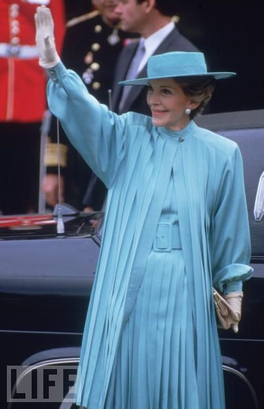 Nancy Reagan. This was taken outside St. Paul's Cathedral in London, where she was going to the wedding of Prince Charles and Lady Diana Spencer.