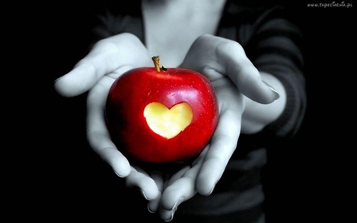 Czerwone, Jabłko, Serce