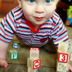 Blocks are my all time favorite baby toy.