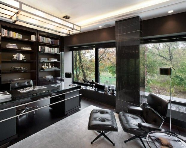 25 best ideas about luxury office on pinterest office built ins home office desks and white - Modern home office floor plans for a comfortable home office ...