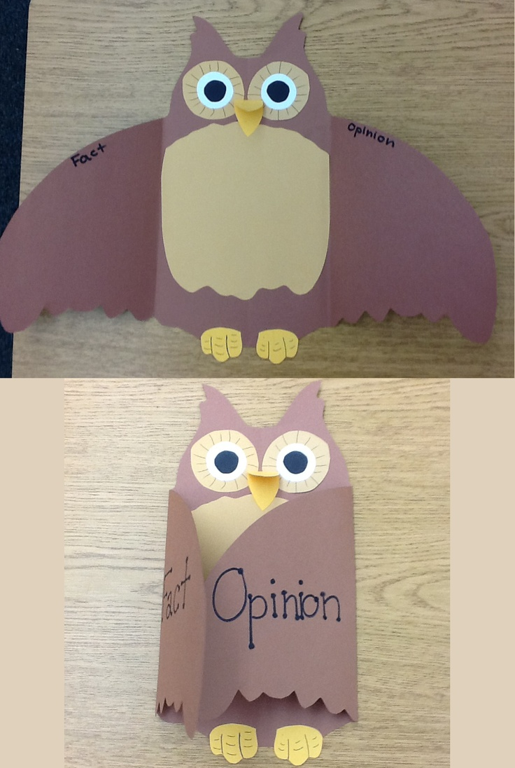 Something I came up with on a whim! Fact and Opinion Owl :)