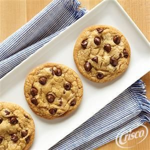 Ultimate Chocolate Chip Cookies from Crisco® (Mom uses this recipe and it's so good!)
