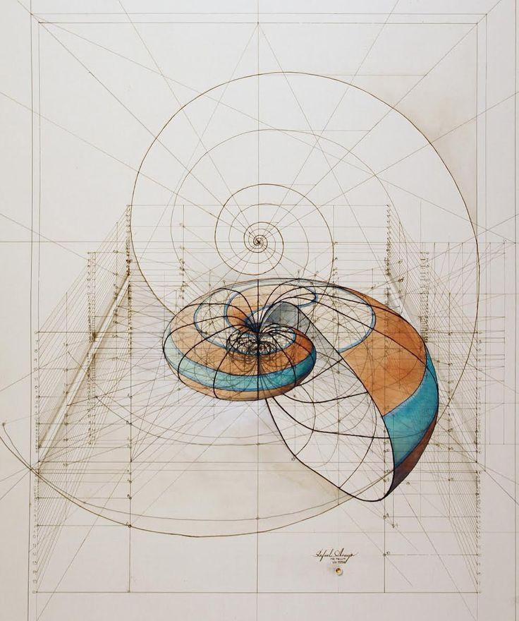 ラファエル·アラウージョで鉛筆やペンで描かれた生命の建築レンダリングは蝶のアーキテクチャ3Dの描画