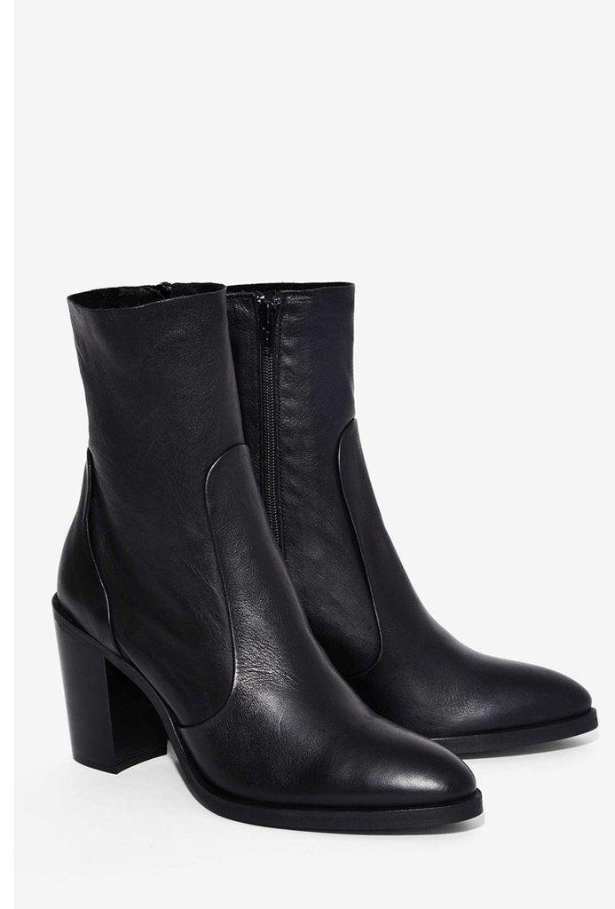 Nast Gal Factory 'Crosswalk' Pico Ankle Boot ($150)