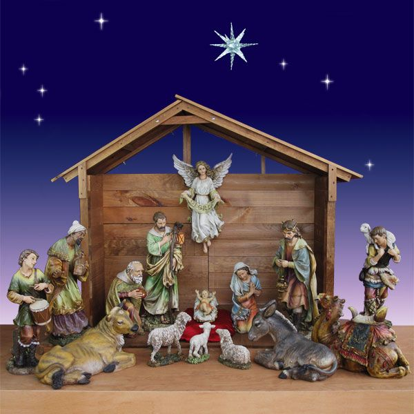 Giant Outdoor Nativity Scene - 6 foot scale - 14 pc. Description from christmasnightinc.com. I searched for this on bing.com/images