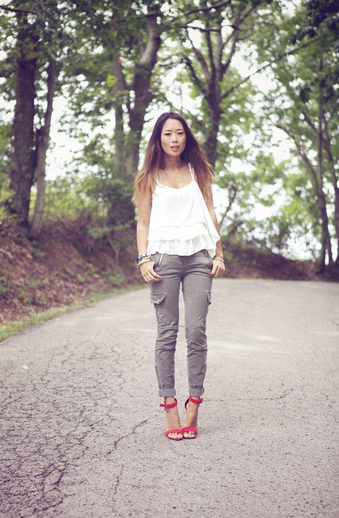 awesome Модные женские брюки карго (50 фото) — С чем носить?