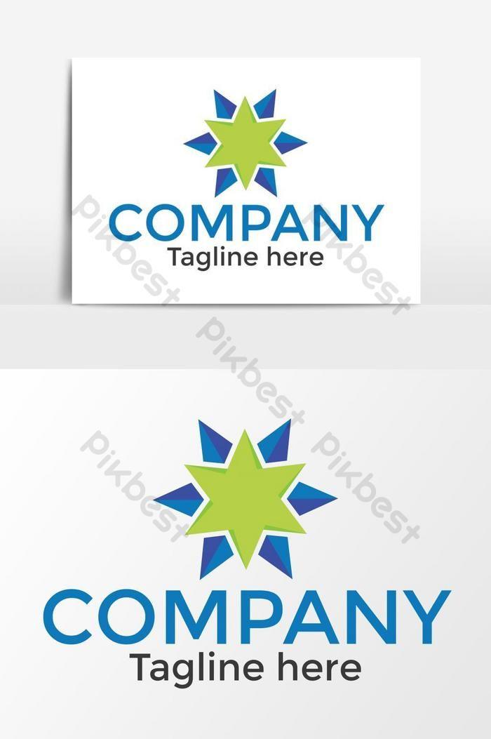 Green Star Vector Logo Png Images Eps Free Download Pikbest In 2020 Vector Logo Company Logo Design Eye Logo