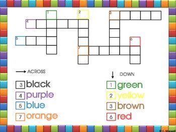 Freebie! MY FIRST CROSSWORD PUZZLE | 1st Grade Activities ...