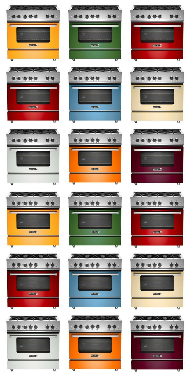 Big Chill Pro Line - Modern Styling and Sophisticated Colors. American power and performance: up to 99,000 total BTU cooktops and 45,000 BTU oven strength.