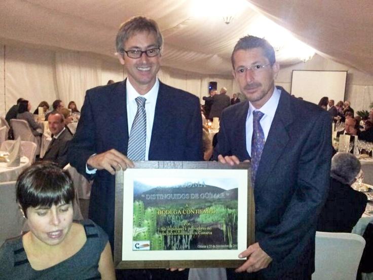 """Jorge #Zerolo y Rodrigo #Mesa, los """"jefes"""", en la entrega de los Premios CIT de Güímar"""