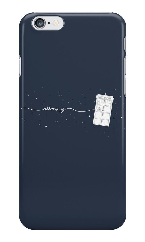 10th Doctor Allons-y to the TARDIS case ($27)