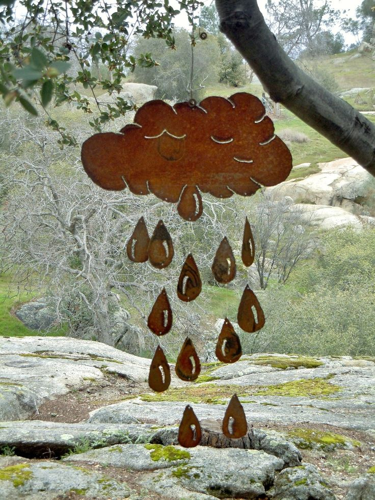 Cloud & Raindrop Metal Wind Chime by FoothillMetalArt on Etsy. $55.00, via Etsy.