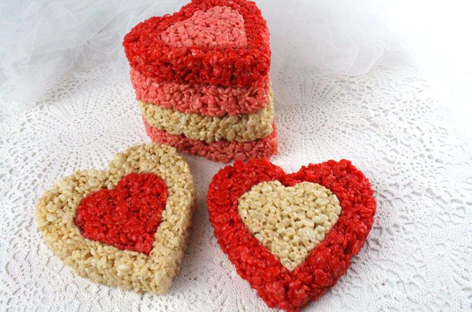 Colorful, fesitve and delicious, our Rice Krispie Treat Valentines are a Valentines Day dessert that everyone will love. We have all the directions you'll need to make these special Valentines Day treats for your family. Follow us for more great Valentines Day Food ideas.