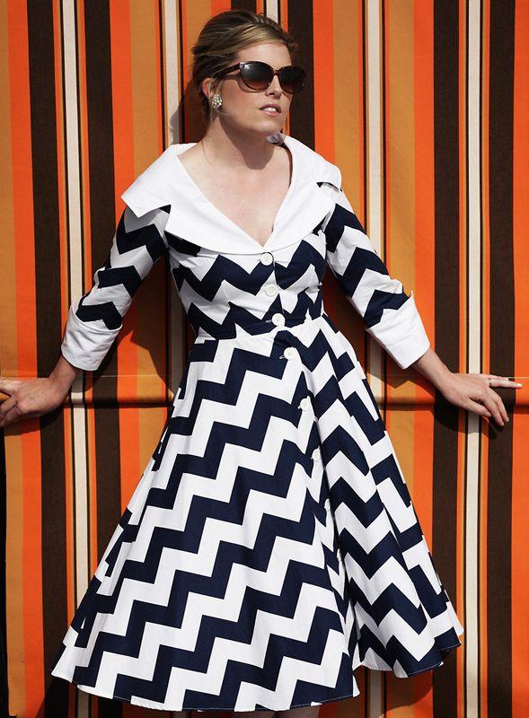 Vestito Dolly Dagger Jackie Chevron Print 149£