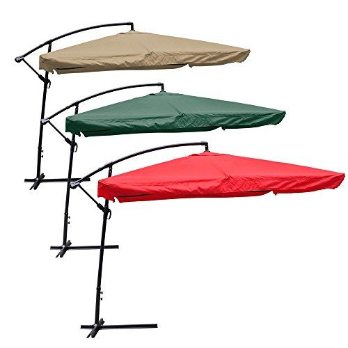 Yescom 9 Green Square Outdoor Patio Hanging Offset Aluminum Umbrella Tilt UV30 200g Cover Canopy For Sale https://homepatiogarden.net/yescom-9-green-square-outdoor-patio-hanging-offset-aluminum-umbrella-tilt-uv30-200g-cover-canopy-for-sale/