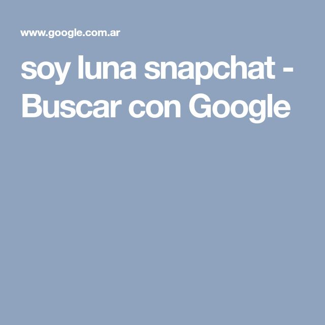 soy luna snapchat - Buscar con Google