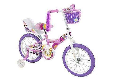 Bcp 16-Inch, Girl'S Flower Princess Bike W Training Wheels &Amp; Basket Kid'S Bicycle - 1/1