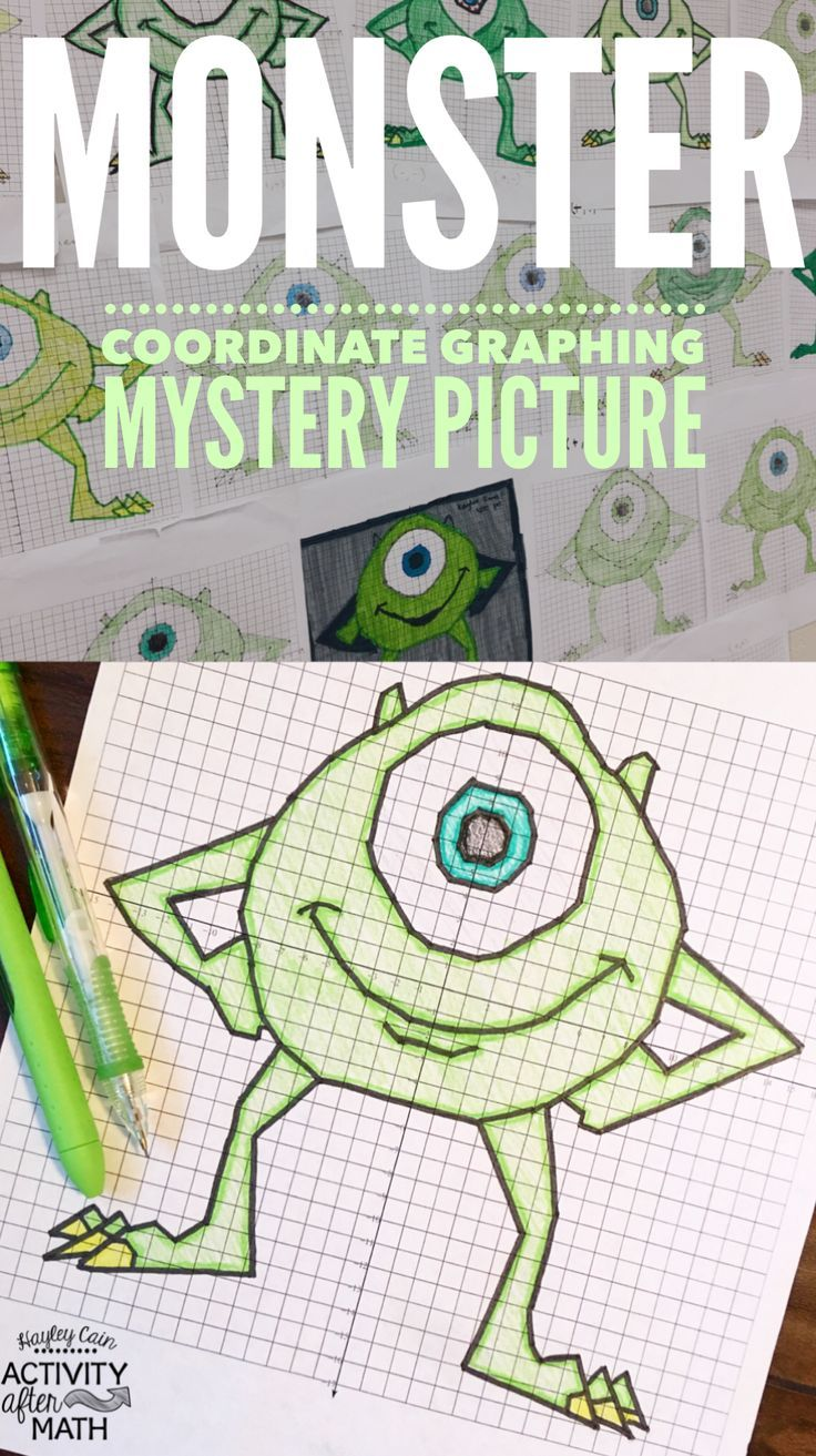 Monster Coordinate Graphing Mystery Picture Students Practice Plotting Poi Coordinate Graphing Pictures Coordinate Graphing Mystery Picture Coordinate Graphing [ 1313 x 736 Pixel ]