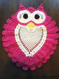 Beautiful owl rug crochet | PATTERNS CROCHET TOP