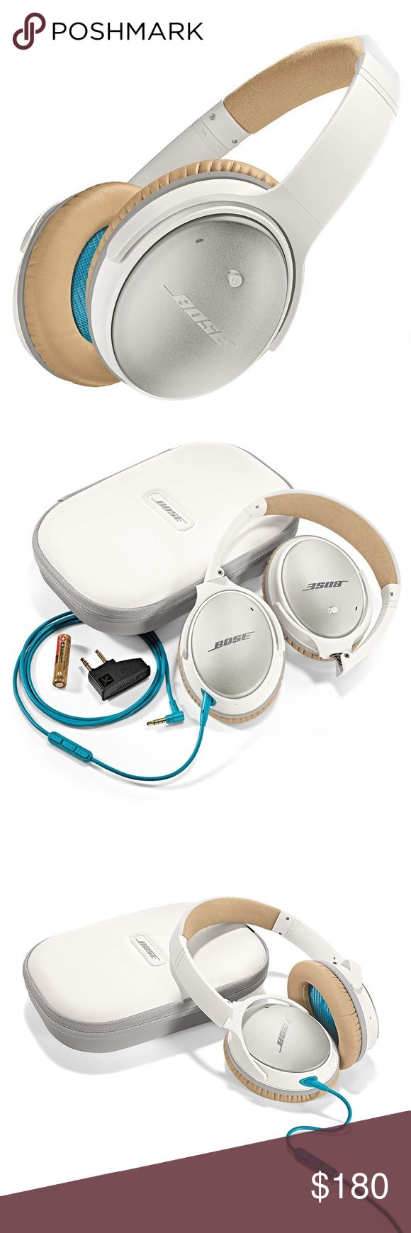 Bose QuietComfort NoiseCancelling Headphones Super cute acoustic headphones with noise reduction for travel, work and anywhere in between. Comes with carrying case. There are no scratches but ear phones show gentle wear. Bose Other
