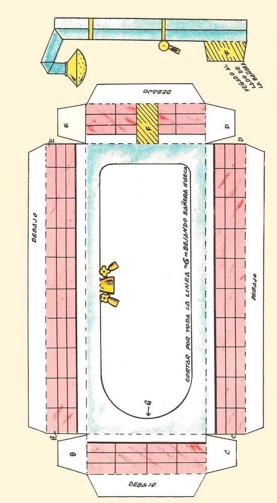Vâmo Lá em Casa: Móveis de Papel em Miniatura Para Imprimir