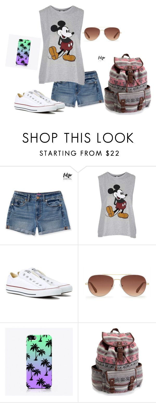 """How to Wear Outfits for School"" by nknudson-04 on Polyvore featuring Aéropostale, Topshop, Converse, Stella & Dot and The Small Print."