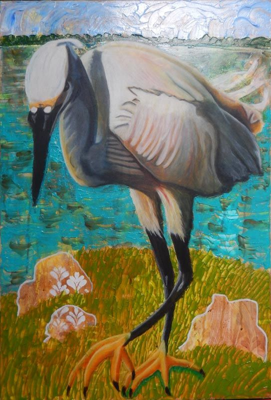 Egret is Ready to Strike – 24Steps Art and Design