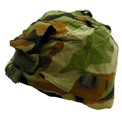 Combat Helmet Cover - Woodland Camo (Green)
